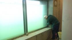 Sanace okenniho otvoru pod hladinou rybnika