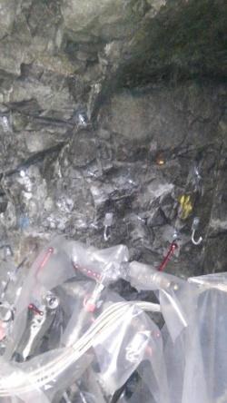Injektáže skalního podloží laboratoře